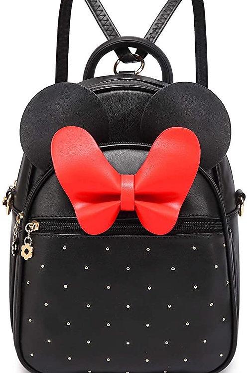 Mini Backpack Bowknot Backpacks Convertible Crossbody Pu Leather Shoulder Bag
