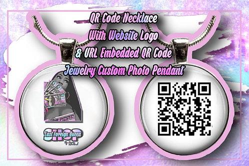 Custom Necklace With Website Logo & URL Embedded QR Code