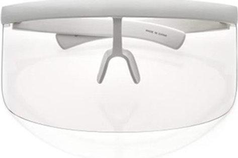 Futuristic Oversize Shield Flat Top Colored Mono Lens Visor Sunglasses 172mm