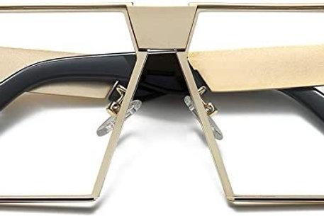 Unique Oversize Shield Vintage Square Sunglasses LK1705