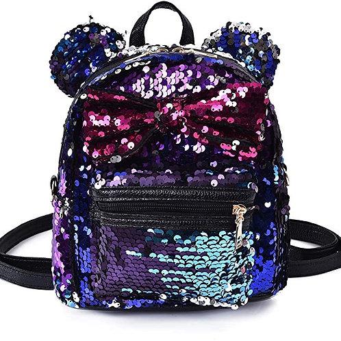 Sequin Backpack Cute Backpack Shoulder Fashion Backpack Ears Bowknot Bag
