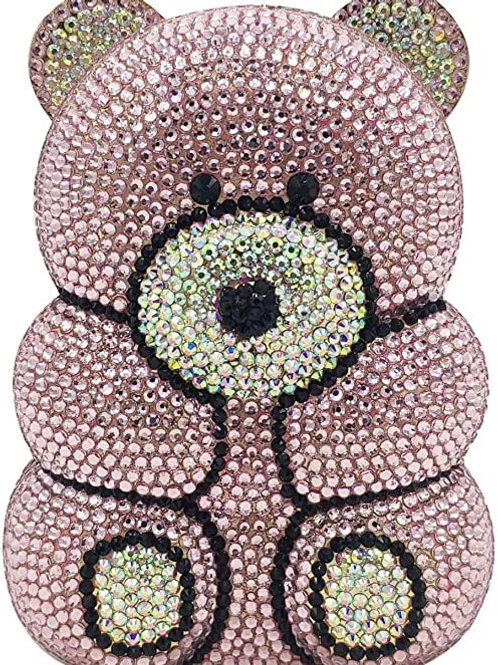 Bear Bags and Clutches Cocktail Rhinestone