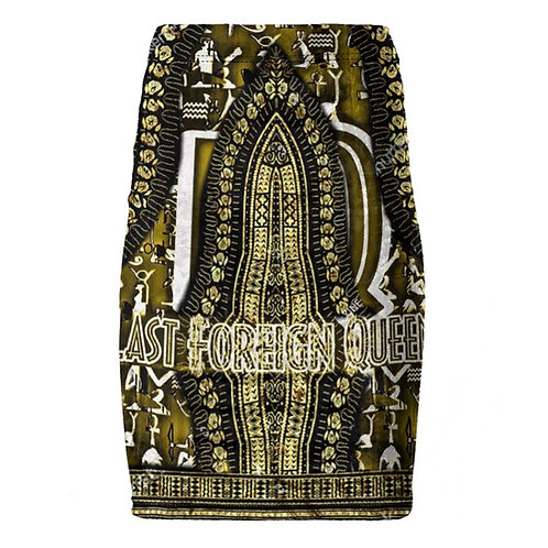 Last Foreign Queen Pencil Skirt