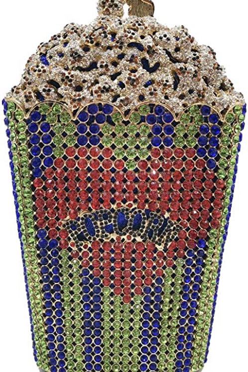 Luxury Crystal Popcorn Bags and Clutches Metal Minaudière Purses Handbags