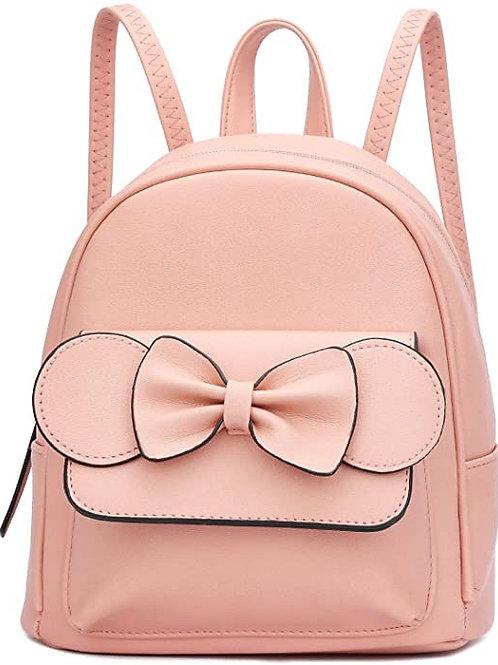Mini Bowknot Polka Dot Backpack Purse Convertible Cute Crossbody Shoulder Bag