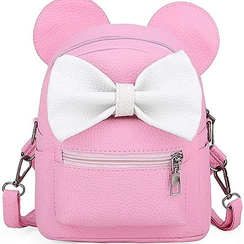 Mouse Ear Polka-dot Sequin Bow Backpack Shoulder Bag Purse
