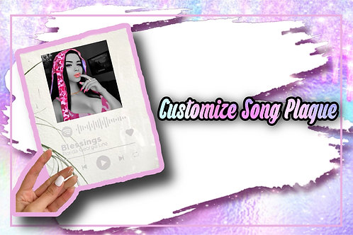 Customized Song Plaque