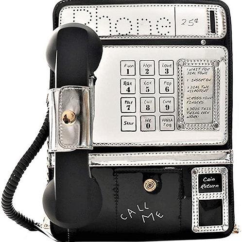 Reflective Laser Fashion Telephone Shaped Shoulder Bag Crossbody