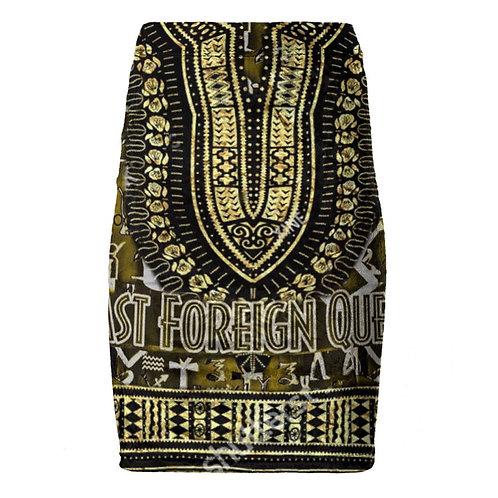 Last Foreign Queen Pencil Skirt