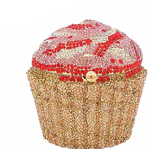 Cupcake Crystal Clutch Evening Clutches Bags
