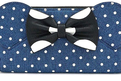 Mouse Ears Bow Zip Around Wallet,