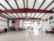 aircraft hangar at airpark