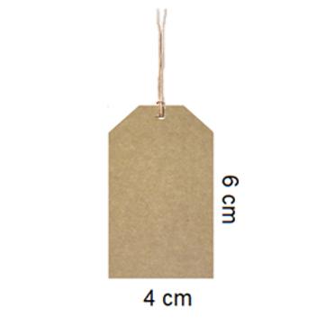 Etiqueta kraft sin impresión 6 x 4cm
