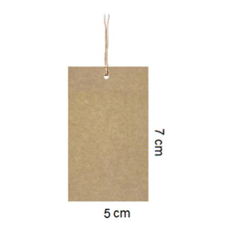 Etiqueta kraft sin impresión 7 x 5cm