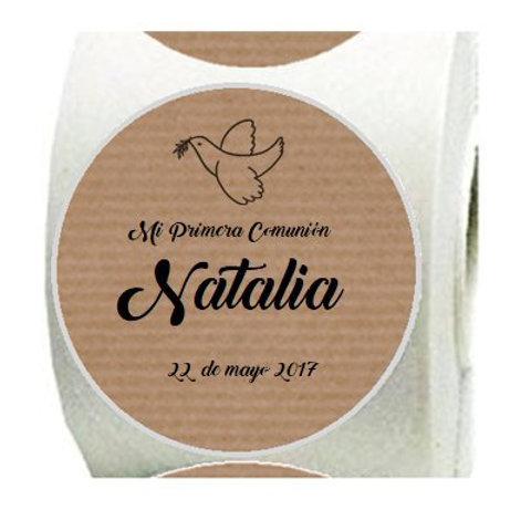 Etiquetas adhesivas Paloma personalizadas