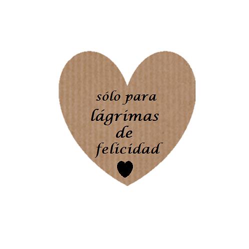 """100 Etiquetas adhesivas """"Sólo para lágrimas de Felicidad"""""""