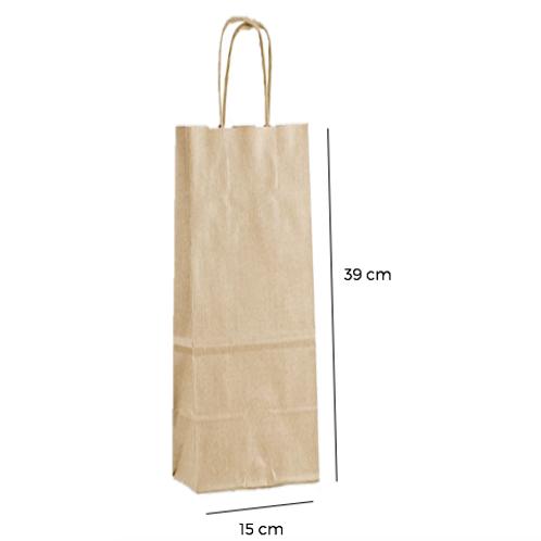 Bolsa con Asas  para botella 15x39,5x8,5 cm de fuelle