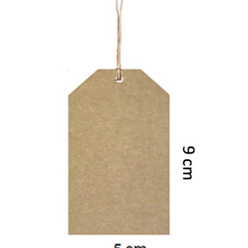 Etiqueta kraft sin impresión 9 x 5cm