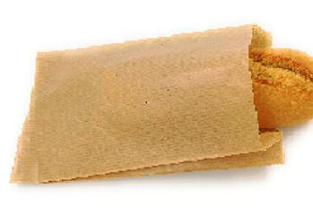 Bolsas kraft para bocadillo o barra pequeña de pan  14+7x27 cm