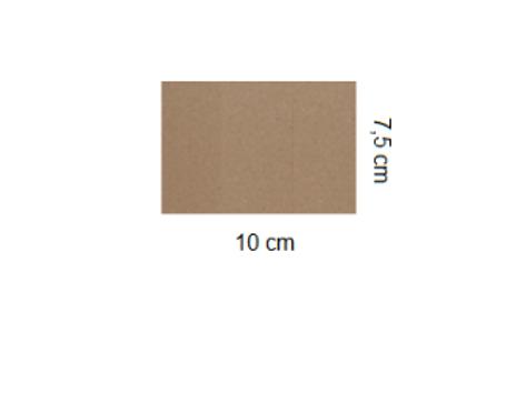 Tarjetón Kraft 10 x 7,5 cm