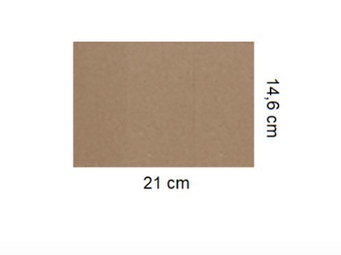 Tarjetón Kraft 21 x 14,6 cm