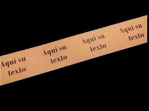 Cinta adhesiva Kraft impresa texto personalizado 50 mm