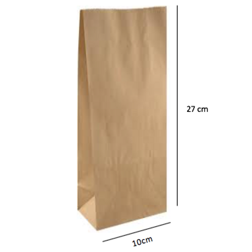 50 Bolsas sin Asas, 10x27x6 cm