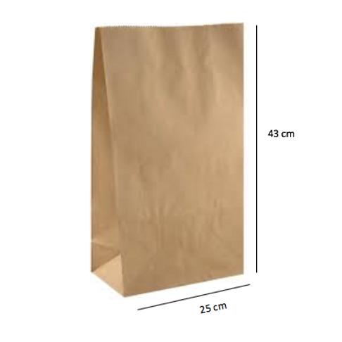 25 Bolsas sin Asas 43x25x15 cm