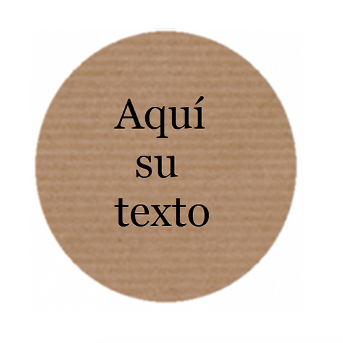 Etiquetas adhesivas personalizadas Texto Libre