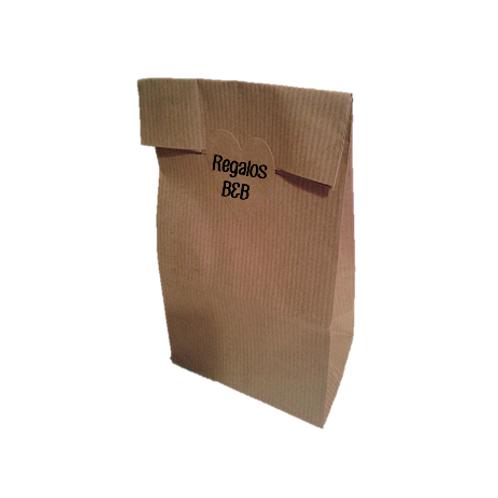 Bolsa sin Asas Kraft con etiqueta adhesiva PERSONALIZADA kraft