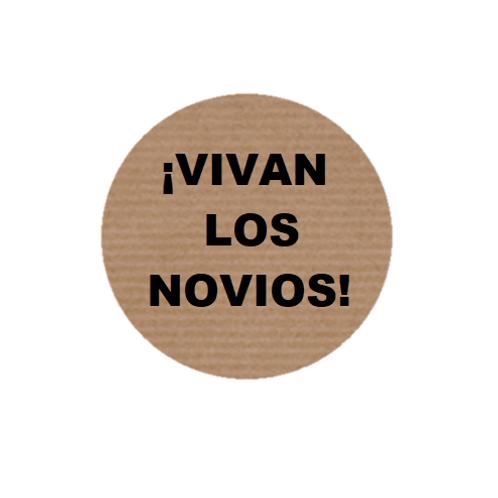 "100 Etiquetas adhesivas ""Vivan los novios"""