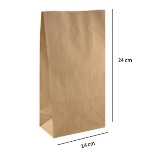 50 Bolsas sin Asas, 14x24x8 cm