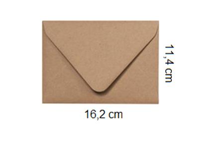 Sobre Kraft 16,2 x 11,4 cm