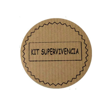"Etiquetas adhesivas Kraft ""Kit de Supervivencia"""