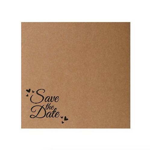 "Sobre impreso ""Save the Date"" (15 x 15 cm)"