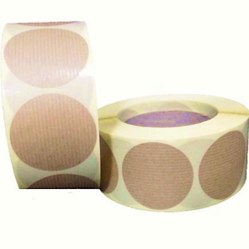 Etiquetas kraft adhesivas redondas sin impresión 5 x 5 cm