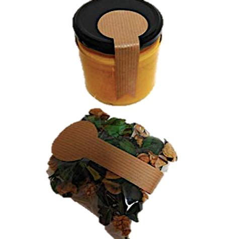 Etiquetas adhesivas kraft precinto para botes o bolsas