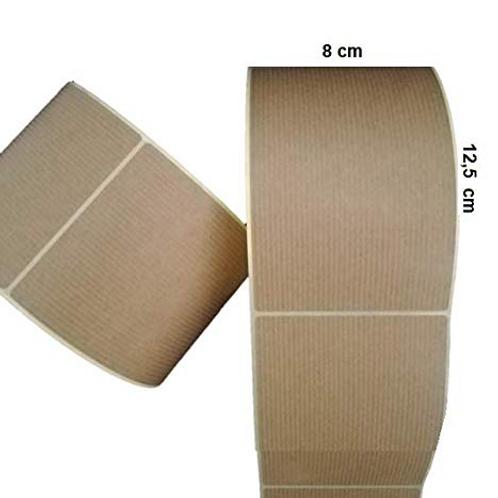 Etiquetas adhesivas kraft verjurado 8 x 12,5 cm