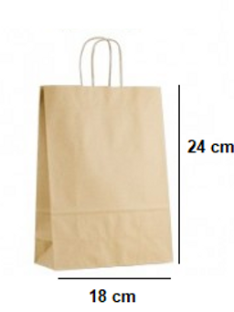 Bolsa con Asas 18x24x8 cm de base