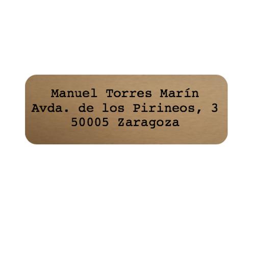 150 Etiquetas adhesivas kraft con texto personalizado