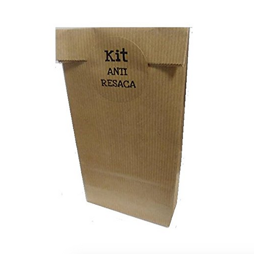 "Bolsa sin Asas Kraft con etiqueta adhesiva kraft ""Kit Anti-Resaca"""
