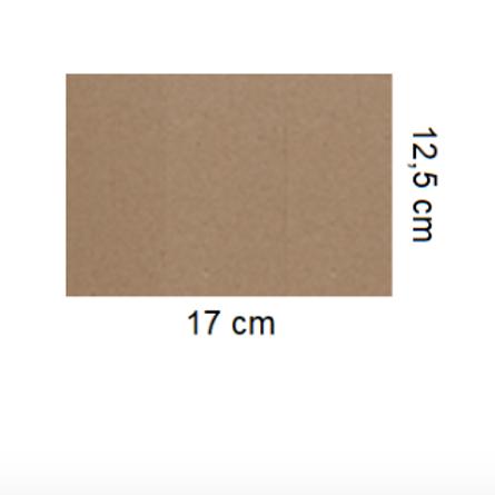 Tarjetón Kraft 17 x 12,5 cm