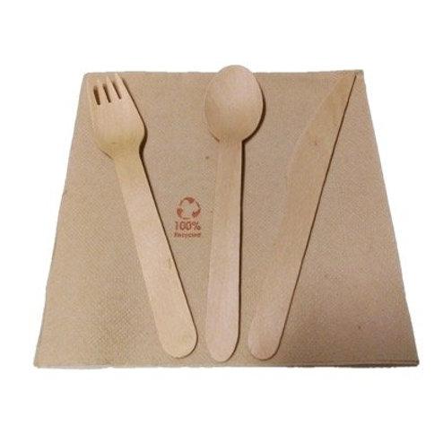 Set de tenedor - cuchara - cuchillo y servilleta