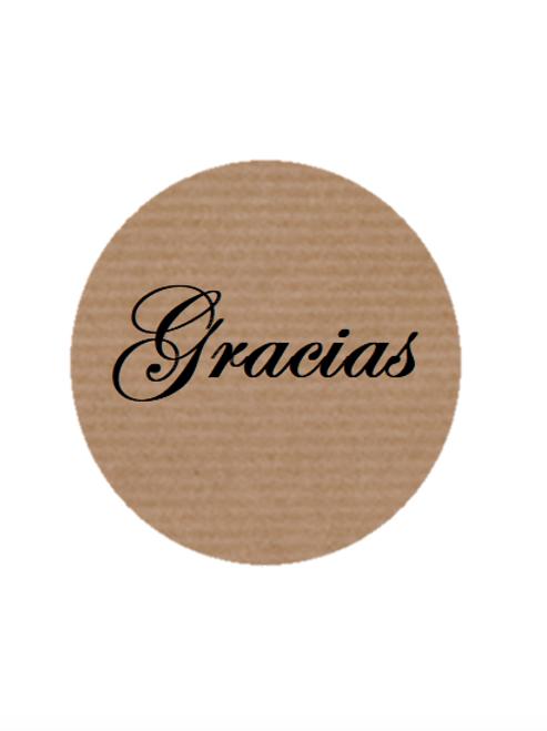 """100 Etiquetas adhesivas """"Gracias"""""""