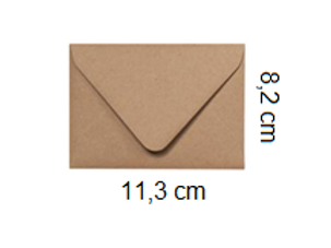 Sobre Kraft 11,3 x 8,2 cm
