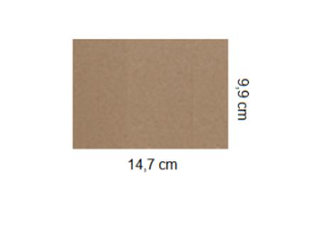 Tarjetón Kraft 14,7 x 9,9 cm