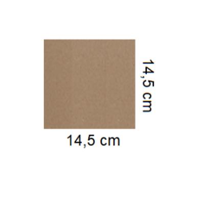 Tarjetón Kraft 14,5 x 14,5 cm