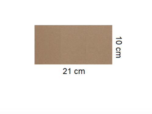 Tarjetón Kraft 21 x 10 cm