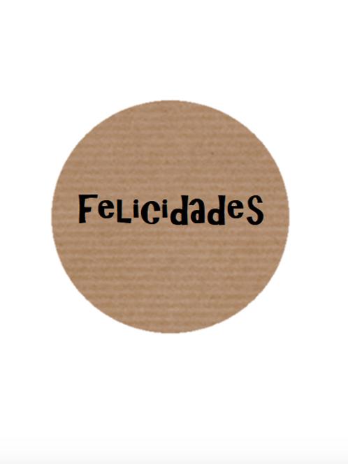 """100 Etiquetas adhesivas """"Felicidades"""""""