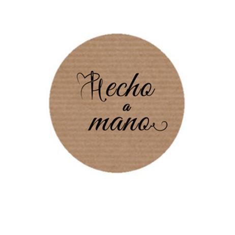"""100 Etiquetas adhesivas """"Hecho a mano"""""""